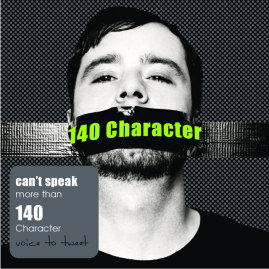 voice to tweet 140 character speak